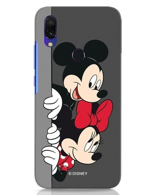 Shop Mickey And Minnie Xiaomi Redmi 7 Mobile Cover-Front