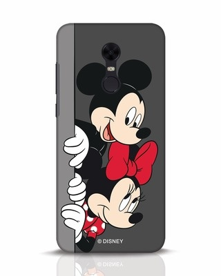 Shop Mickey And Minnie Xiaomi Redmi Note 5 Mobile Cover-Front