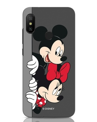 Shop Mickey And Minnie Xiaomi Redmi Note 6 Pro Mobile Cover-Front