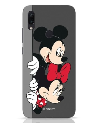 Shop Mickey And Minnie Xiaomi Redmi Note 7 Pro Mobile Cover-Front
