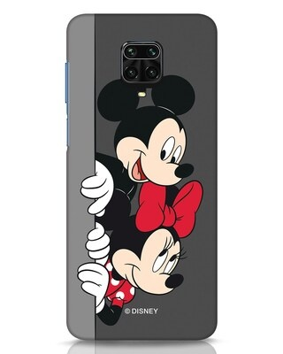 Shop Mickey And Minnie Xiaomi Redmi Note 9 Pro Mobile Cover-Front