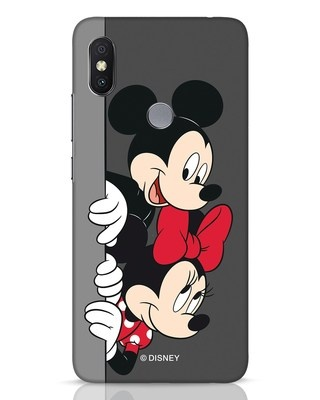 Shop Mickey And Minnie Xiaomi Redmi Y2 Mobile Cover-Front