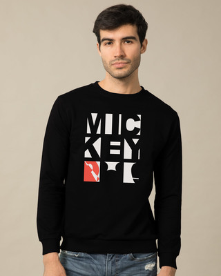 Shop Mickey Blocks Fleece Sweater (DL)-Front