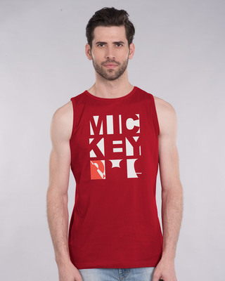Shop Mickey Blocks Vest (DL)-Front
