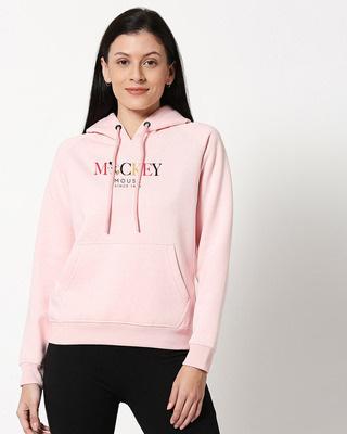 Shop Mickey Char Melange Hoodie Sweatshirt-Front
