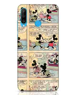 Shop Mickey Comic Huawei P30 Lite Mobile Cover (DL)-Front