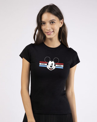 Shop Mickey Cool Half Sleeve T-shirt (DL)-Front