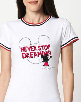Shop Mickey Dreaming T-Shirt (DL)-Front