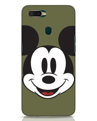 Shop Mickey Face Oppo A7 Mobile Cover-Front