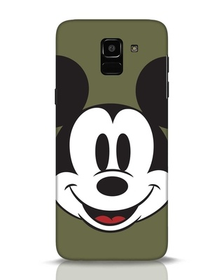 Shop Mickey Face Samsung Galaxy J6 Mobile Cover-Front