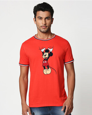 Shop Mickey Hanging Crewneck Varsity Rib H/S (DL) Multicolor-Front