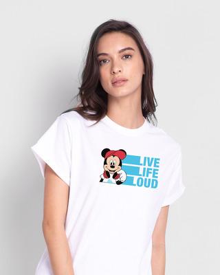 Shop Mickey Loud Boyfriend T-Shirt (DL)-Front