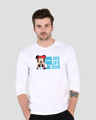 Shop Mickey Loud  Full Sleeve T-Shirt (DL)-Front