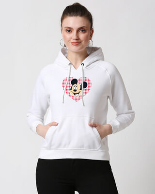 Shop Mickey Love Dots Sweatshirt Hoodie-Front