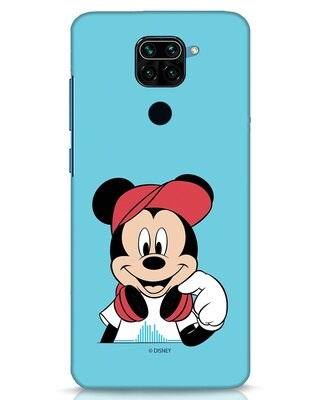 Shop Mickey Music Xiaomi Redmi Note 9 Mobile Cover (DL)-Front