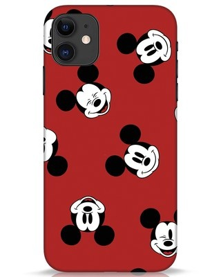 Shop Mickey Pattern iPhone 11 Mobile Cover-Front