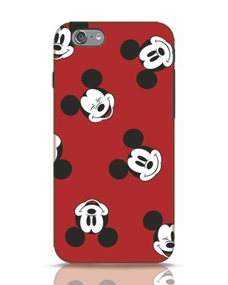Shop Mickey Pattern iPhone 6s Mobile Cover-Front