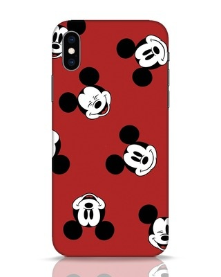 Shop Mickey Pattern iPhone XS Mobile Cover-Front