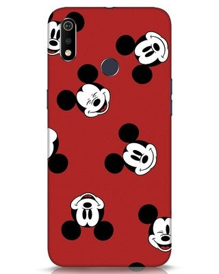 Shop Mickey Pattern Realme 3i Mobile Cover-Front