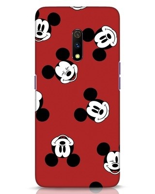 Shop Mickey Pattern Realme X Mobile Cover-Front