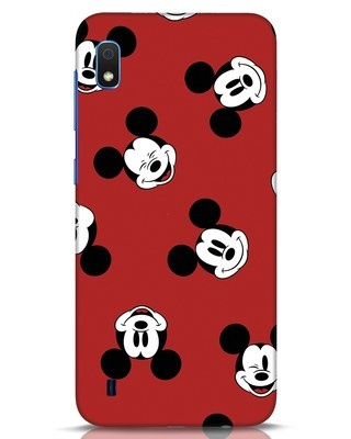 Shop Mickey Pattern Samsung Galaxy A10 Mobile Cover-Front