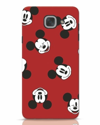 Shop Mickey Pattern Samsung Galaxy J7 Max Mobile Cover-Front