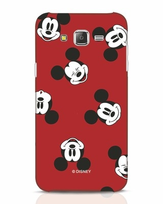 Shop Mickey Pattern Samsung Galaxy J7 Mobile Cover-Front