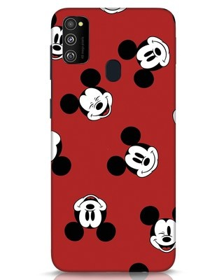 Shop Mickey Pattern Samsung Galaxy M30s Mobile Cover-Front