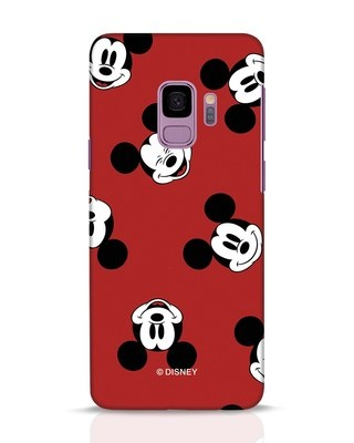 Shop Mickey Pattern Samsung Galaxy S9 Mobile Cover-Front