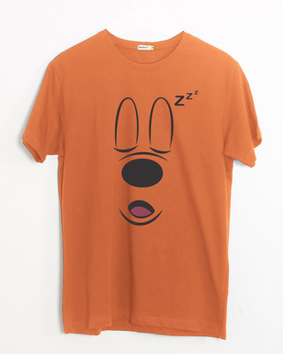 Shop Mickey Sleepy Half Sleeve T-Shirt (DL)-Front