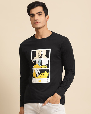 Shop Mickey Trio Call Full Sleeve T-Shirt (DL)-Front