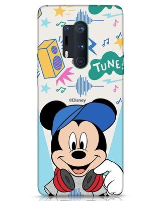 Shop Mickey Tune OnePlus 8 Pro Mobile Cover (DL)-Front