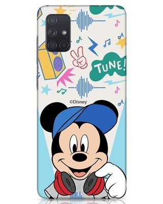 Shop Mickey Tune Samsung Galaxy A71 Mobile Cover (DL)-Front