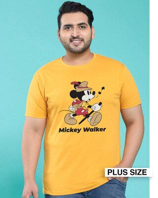 Shop Mickey Walker Half Sleeve T-Shirt-Front