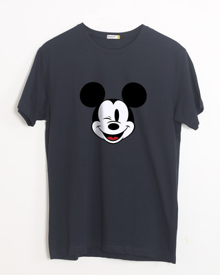 Shop Mickey Wink Half Sleeve T-Shirt-Front