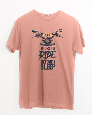Shop Miles To Ride Half Sleeve T-Shirt-Front