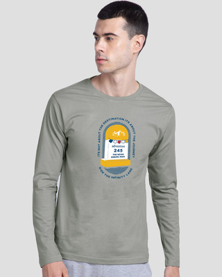 Shop Milestone Full Sleeve T-Shirt Meteor Grey-Front
