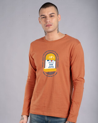 Shop Milestone Full Sleeve T-Shirt Vintage Orange-Front