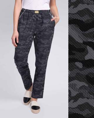 Shop Military Camo All Over Printed Pyjama-Front