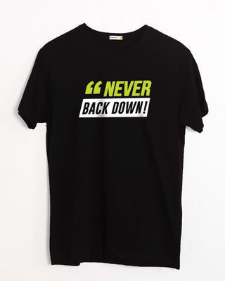 Shop Minimal Back Down Half Sleeve T-Shirt-Front