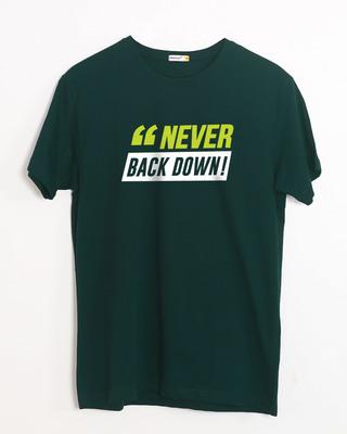 Shop Minimal Back Down Half Sleeve T-Shirt-Front