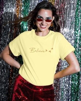 Shop Minimal Believe Boyfriend T-Shirts-Front