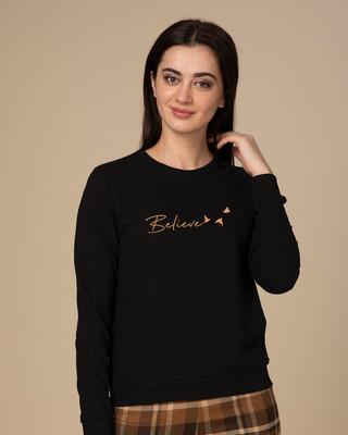 Shop Minimal Believe Sweatshirt-Front