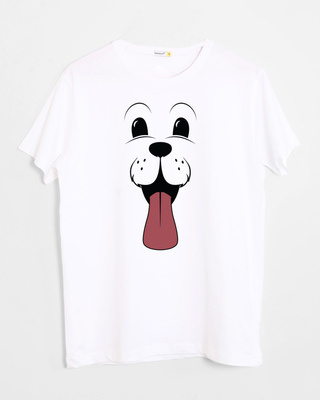 Buy Minimal Dog Face Half Sleeve T-Shirt Online India @ Bewakoof.com