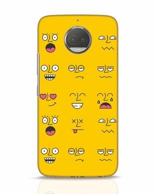Shop Minimal Emoji Moto G5s Plus Mobile Cover-Front