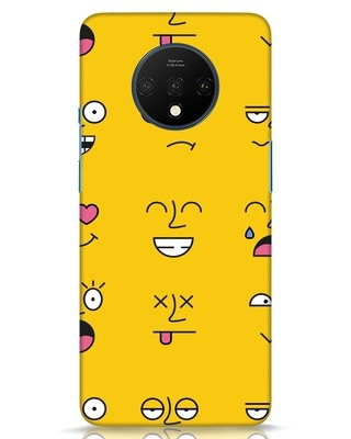 Shop Minimal Emoji OnePlus 7T Mobile Cover-Front