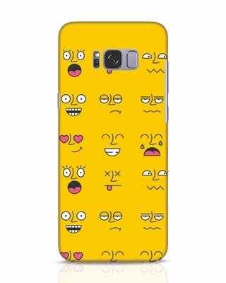 Shop Minimal Emoji Samsung Galaxy S8 Mobile Cover-Front