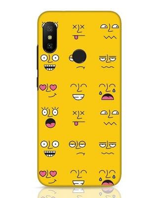 Shop Minimal Emoji Xiaomi Redmi 6 Pro Mobile Cover-Front