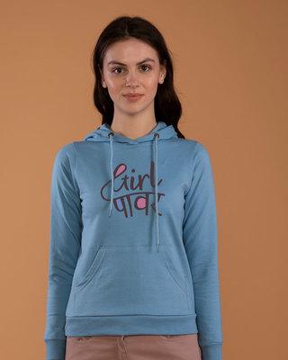 Shop Minimal Girl Power Fleece Hoodies-Front