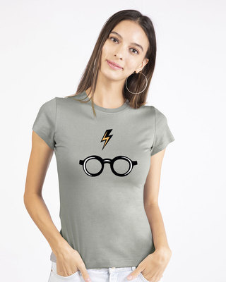 Shop Minimal Harry Potter Half Sleeve T-shirt (HPL)-Front